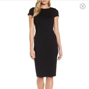 Felicity & Coco Seamed Pencil Dress in Black